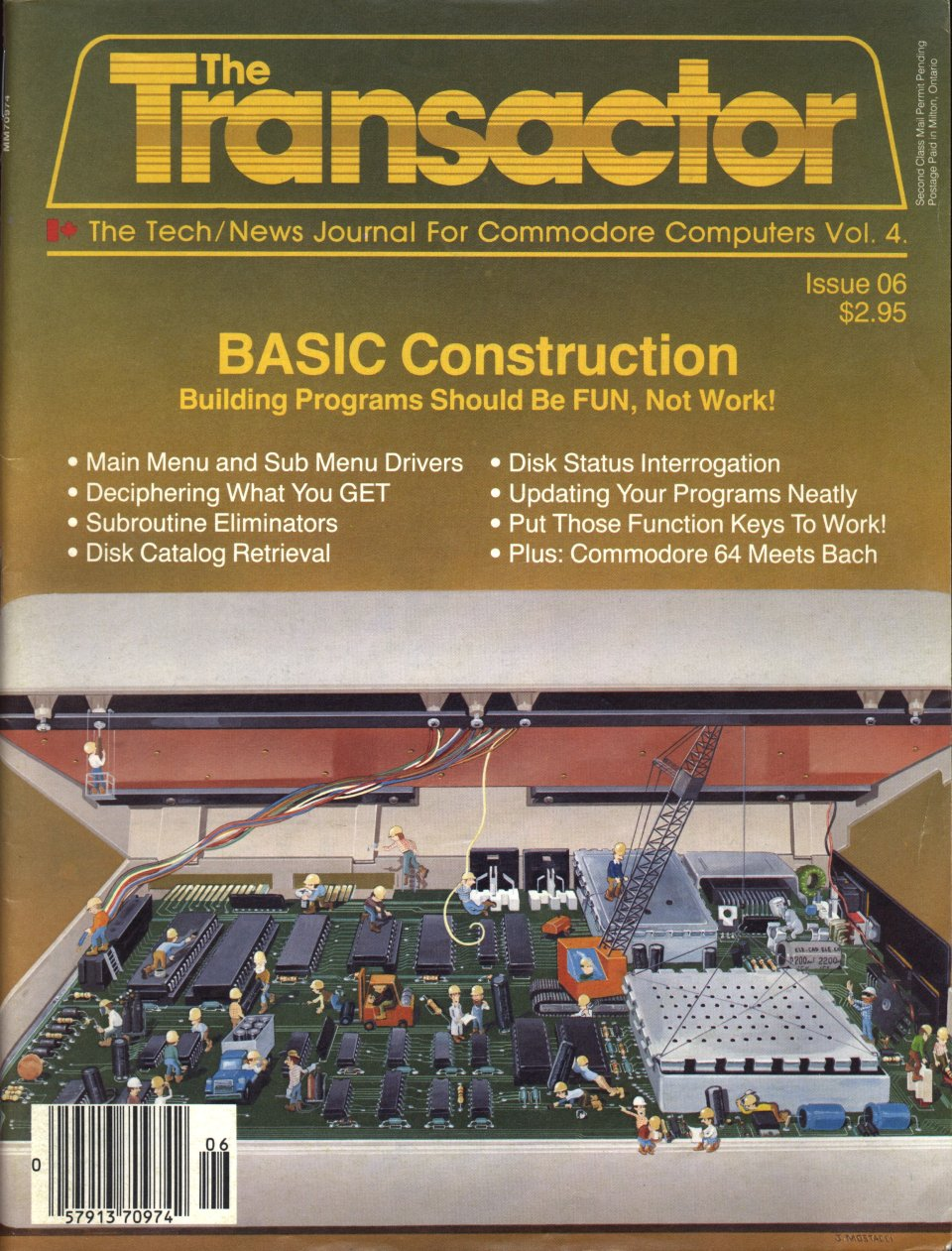 [Cover Page of The Transactor Volume 4, Issue 6: BASIC Construction: Building Programs Should Be FUN, Not Work!]