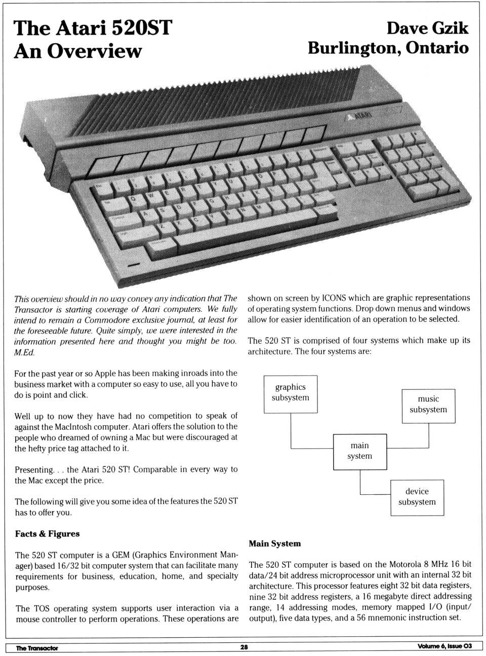 [The Atari 520ST: An Overview (1/2)]